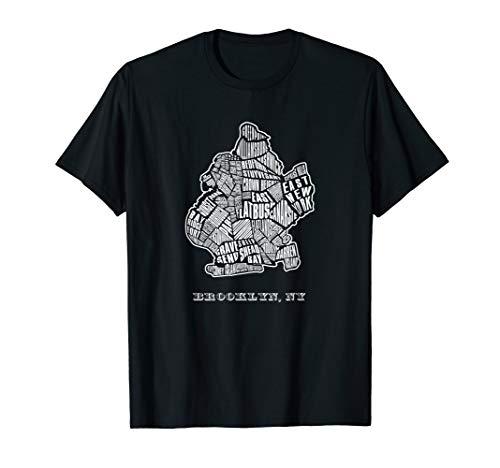 Brooklyn T-Shirt - Map & Neighborhoods Of NYC - Shirts Tee Brooklyn