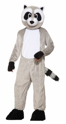 Forum Novelties Men's Rickey Raccoon Plush Mascot Costume, Gray, One Size -
