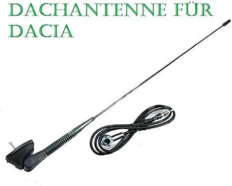 Antenne tige et Antenne Base de toit pour Dacia Logan Lodgy Duster Sandero
