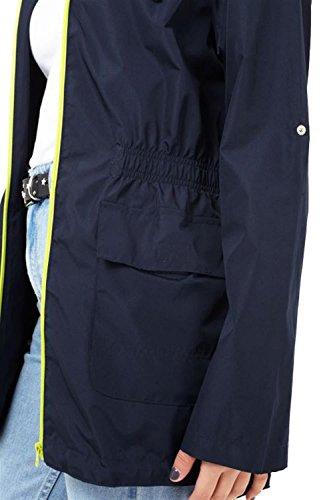 Plaine Pickle Dames Imprimé neon Mac Lime Ravezip Nouveau Showerproof Vestes 52 Parka Navy Chocolate Fishtail 36 Encapuchonné Imperméables CAdtxgqwC