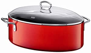 Silit  Passion  8-1/4-Quart Oval Roasting Pan with Lid, Energy Red