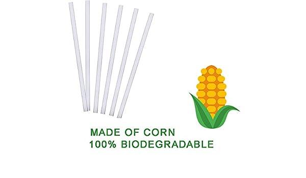Ecológico Biodegradable desechables paja   8 en   100 Count ...