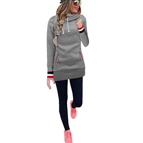 IEason Women tops Women Long Sleeve Blouse Sweater Sweatshirt Pullovers - Rhinestone Hood Sweatshirt