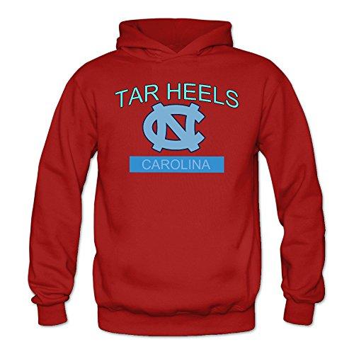 Women's Tar Heels Carolina Sports Blank Hooded Sweatshirt Small Red