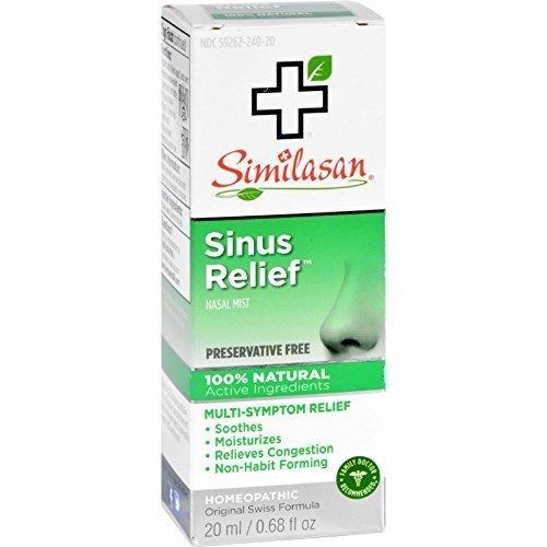 Similasan Sinus Relief Nasal Mist 0.68 oz (Pack of 6)