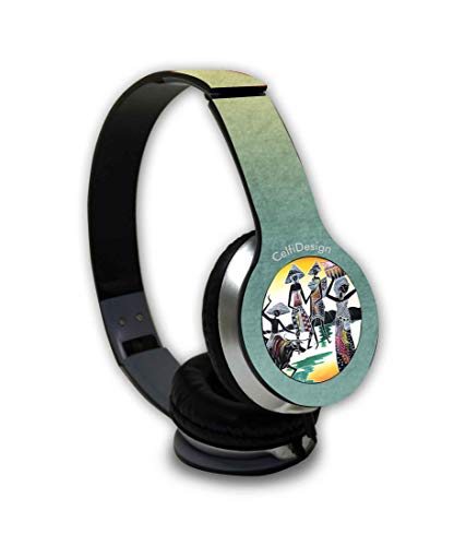 CelfiDesign Abstract Village Over Ear Wired Headphones for All Android & iOS - Dc Mens Village