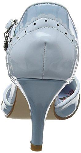 Bleu Femme Escarpins blue Patent Browns Cheville Bride A Shoes 42nd Joe St R1S78q