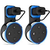 [2 Packs] TDRTECH Outlet Wall Mount Hanger Stand for Dot 2nd Generation (Black/Blue)
