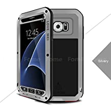 FOME Shockproof Aluminum Metal Gorilla Glass Protection Case Cover for Samsung Galaxy S7 Edge + FOME GIFT