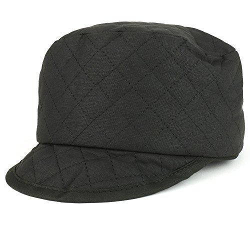 Armycrew Tuff Quilted Black Stitching Cotton Soft Welders Cap - Black - M