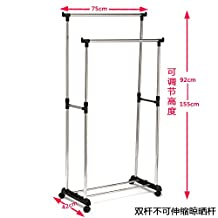 Simple Clothes airer clothes drying rack hangers are cool-ceiling telescoping folded double bar , indoor double bar is not elongation