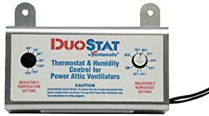 Ventamatic Xxduostat Adjustable Dual Thermostat Humidistat