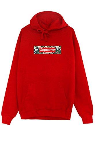 SUPREME Hoodie Kapuzenpullover Unique Pullover red natur pattern