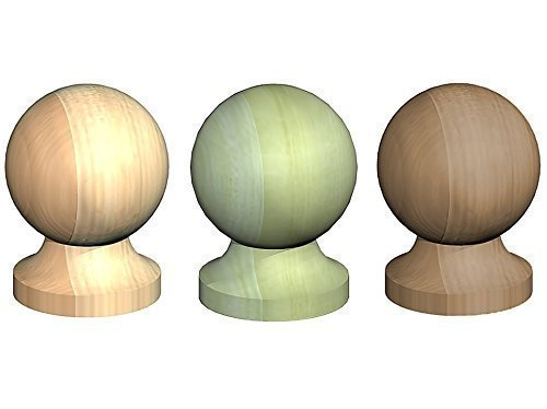 Round Wooden Post Top Finial Ball for 4