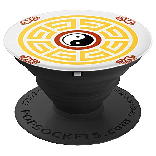 I Ching Feng Shui Taoist Mandala Amulet Antique Chinese PopSockets Grip and Stand for Phones and Tablets