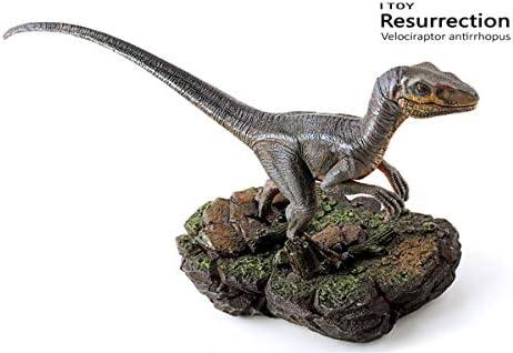 1:35 ITOY Velociraptor Statue Raptor Dinosaur Model Toy 21CM