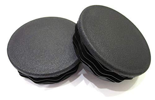 2pcs Pack: 3 1/2 Inch Round Black Plastic Tubing Plug (for Hole Size 3