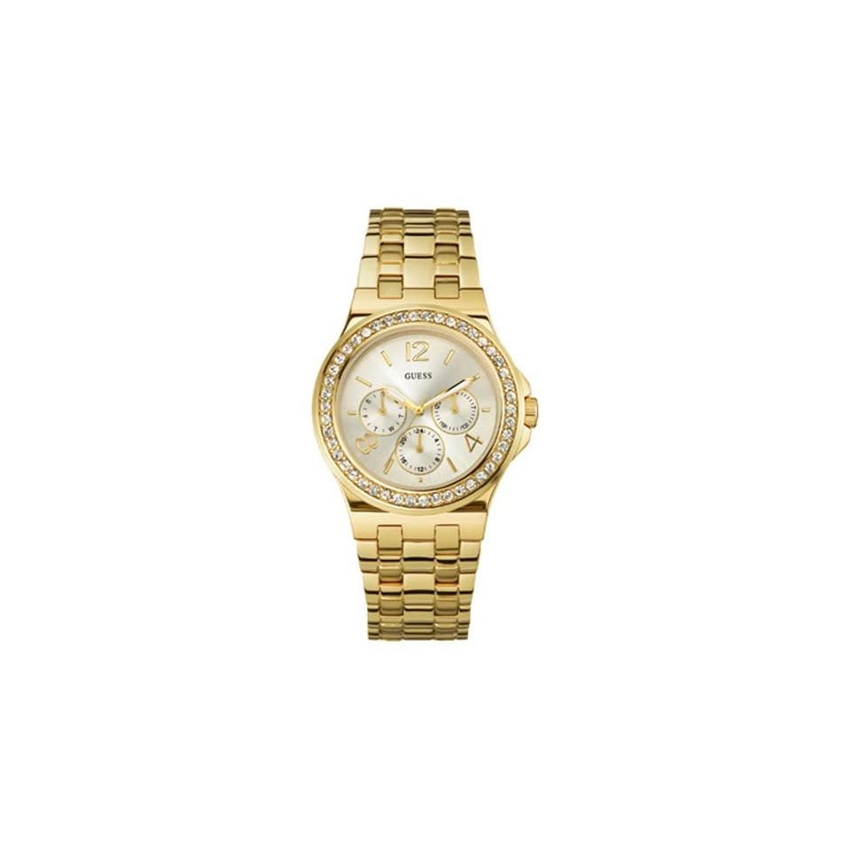 Guess Mens W18538L1 Gold Stainless Steel Quartz Watch with Silver Dial