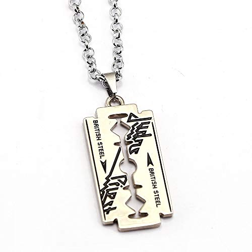 Algol - Music Band Judas Priest Necklace razor blade shape Pendant link chain Necklaces Friendship Gift Jewelry Accessories