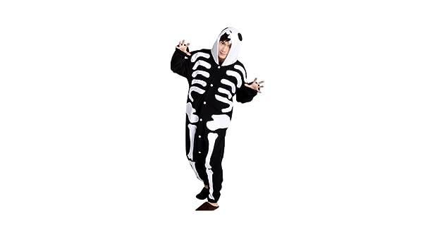 Keral Kigurumi Pijamas Adulto Anime Cosplay de Halloween Traje Outfit_Cráneo_M