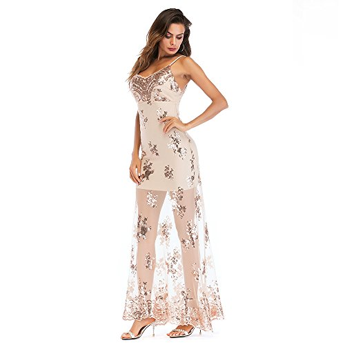 BigForest Damen¡¯s Spaghetti Strap see through sequin backless Party ...