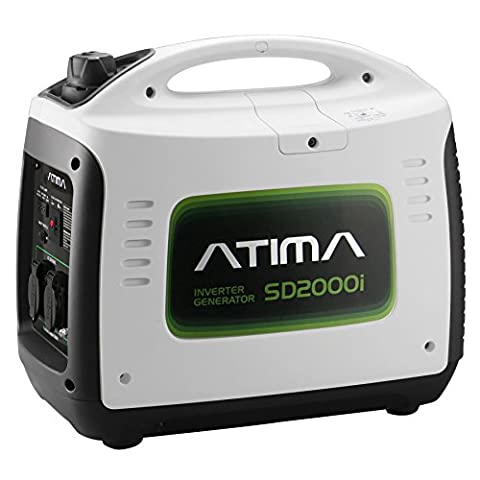 Atima SD2000i 2000 Watt Small Quiet Portable Inverter Generator, Carb Compliant Gas-Powered for RV Camping or Home (Portable 2000w Generator)