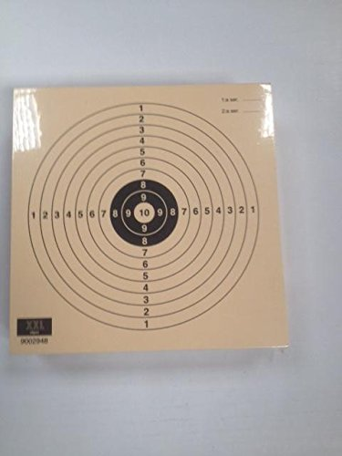 Paquete de 100 dianas de Tiro Olímpico de la modalidad de Pistola Aire Juvenil 10 metros , tamaño 14 * 14 Cm., Fabricadas en cartulina de alta calidad Papel Col de 200 grs. , color teja, antirreflejos. Press Klamer s.l.
