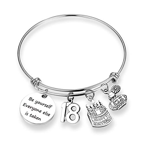 - ZNTINA Birthday Gift 18th Birthday Bracelet Happy Birthday Jewelry Gift for Niece, Daughter Inspiration Bracelet Jewelry (18th BR)