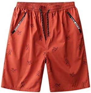 LF- 夏のメンズショートパンツコットンルーズ大きいサイズのメンズカジュアル五点パンツメンズショートパンツを着用してください 快適な (Color : Orange, Size : XL)