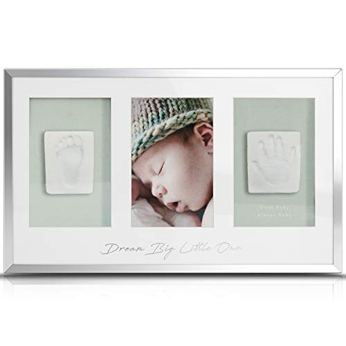 - Once Baby Handprint Kit Footprint Picture Frames Baby Photo Album,Perfect Registry for Baby Shower, Baby Keepsake Kit,Baby Shower Gifts,Nursery Decor.