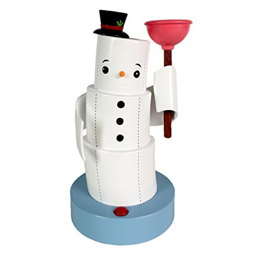 (Hallmark Jokin' in the John Christmas Figurine, Holiday Snowman, Motion Activated )
