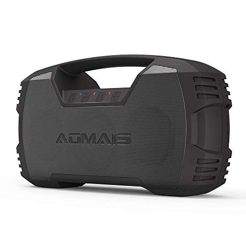 AOMAIS GO Bluetooth Speakers,Waterproof Portable Indoor/Outdoor 30W Wireless Stereo Pairing Booming Bass Speaker,30-Hour Playtime with 8800mAh Power Bank,Durable for Home - Ipx7 Speaker Bluetooth