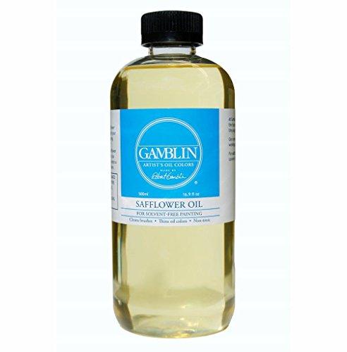Gamblin Safflower Oil 16.9 oz Bottle by GAMBLIN ARTISTS COLORS CO