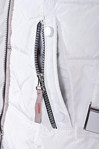 Grimada Q548 Damen Daunenjacke SNOWIMAGE mit Echtfellkapuze Weiss