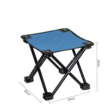 RFXZSAQD アウトドア家具 キャンプ 鉄フレームロッド 折りたたみ椅子 釣り ピクニック オックスフォード 布製椅子シート  ブルー B07L4MWWK1