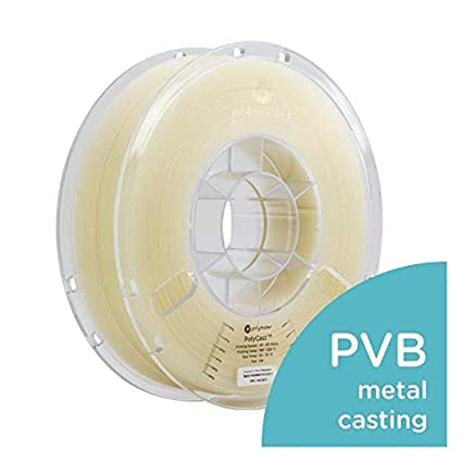 Designed for Investment Casting Metal Casting Polymaker PolyCast 3D Printer Filament 750 g 1.65 lb Natural Color Spool 1.75mm /± 0.05 mm /…