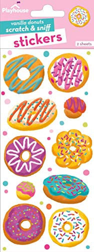 Scratch Sniff Sticker Sheet - Playhouse Assorted Donuts Vanilla Scented Scratch & Sniff Sticker Sheets