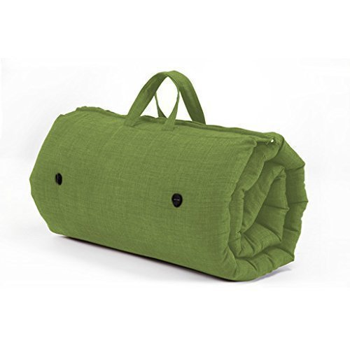 Fun!ture Lime Green Roly Poly Futon Sleeping Mattress - Roll Up/Zip Up/Guest Bed