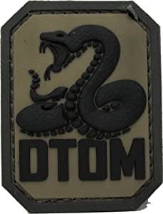 DTOM Don't Tread on Me Morale Patch - PVC (ACU Dark)