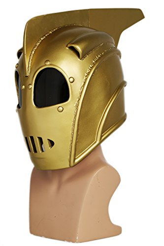 Halloween Rocketeer Costume (Rocketeer Mask Cliff Secord Deluxe Resin Helmet Halloween Cosplay Costume)