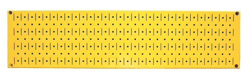 Wall Control 30-P-0832 Y Narrow 8'' x 32'' Yellow Metal Pegboard Runner Tool Board by Wall Control