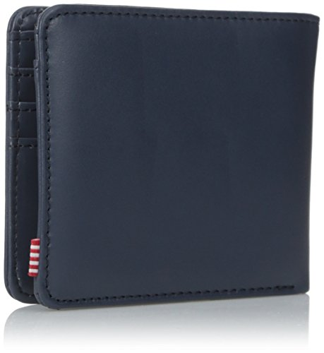 Wallet Co Coin Herschel Leather Navy Men's Smooth Supply Hank T411Ufq