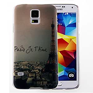 SHOUJIKE Eiffel Tower Pattern Hard Case Cover for Samsung Galaxy S5/I9600