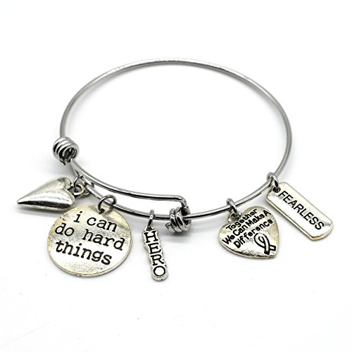 Stainless Steel Adjustable Bracelet, I Can Do Hard Thing, Handmade in USA, AD02