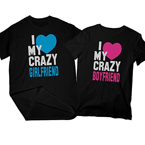 dfcd59e859 I Love My Crazy Boyfriend & Girlfriend | Matching Couple Shirts