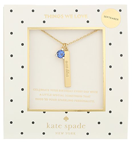 Kate Spade New York September Sapphire Pendant Necklace