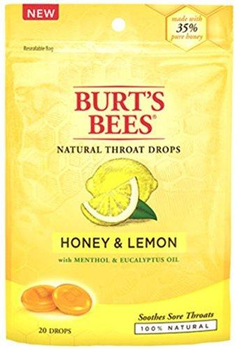 - Burt's Bees Natural Throat Drops, Honey & Lemon 20 ea (Pack of 4)