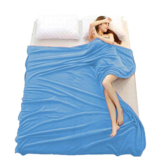 Tiowea Simple Soft and Comforable Air Conditioning Blanket Coral Blankets