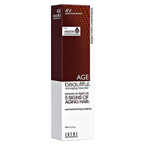 4V Dark Plum Brown Permanent Liqui-Creme Hair (Dark Plum)
