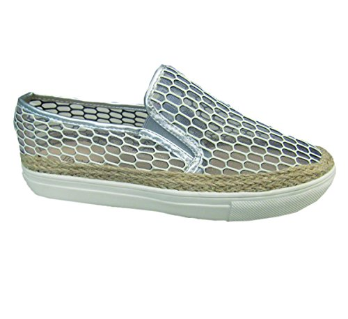 Ocean Club On Women's Ferrera Shoe Slip Perforated Silver Henry gwqvPAx